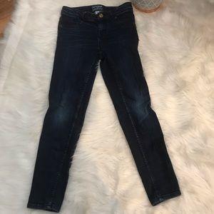 Blue jeans high rise super skinny